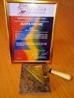 Złota Kielnia i Dyplom za innowacyjność w rozwiązaniach technologicznych